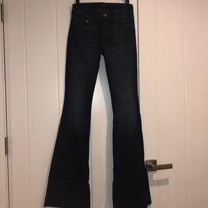 J Brand dark wash flare jeans